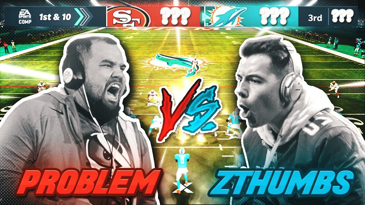 WEEKEND LEAGUE VS DOLPHINS CLUB CHAMPION! | Problem vs zThumbs | Madden 21 Ultimate Team