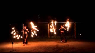 Огненные веера | Огненное шоу | Фаер шоу | Харьков | Киев | Донецк