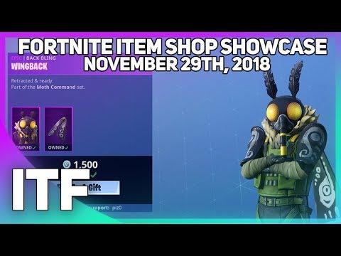 Fortnite Item Shop *NEW* MOTH SKIN! [November 29th, 2018] (Fortnite Battle Royale) thumbnail