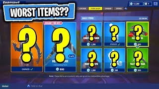 The WORST Item Shop Yet In Fortnite: Battle Royale?! (Skin Reset #138)