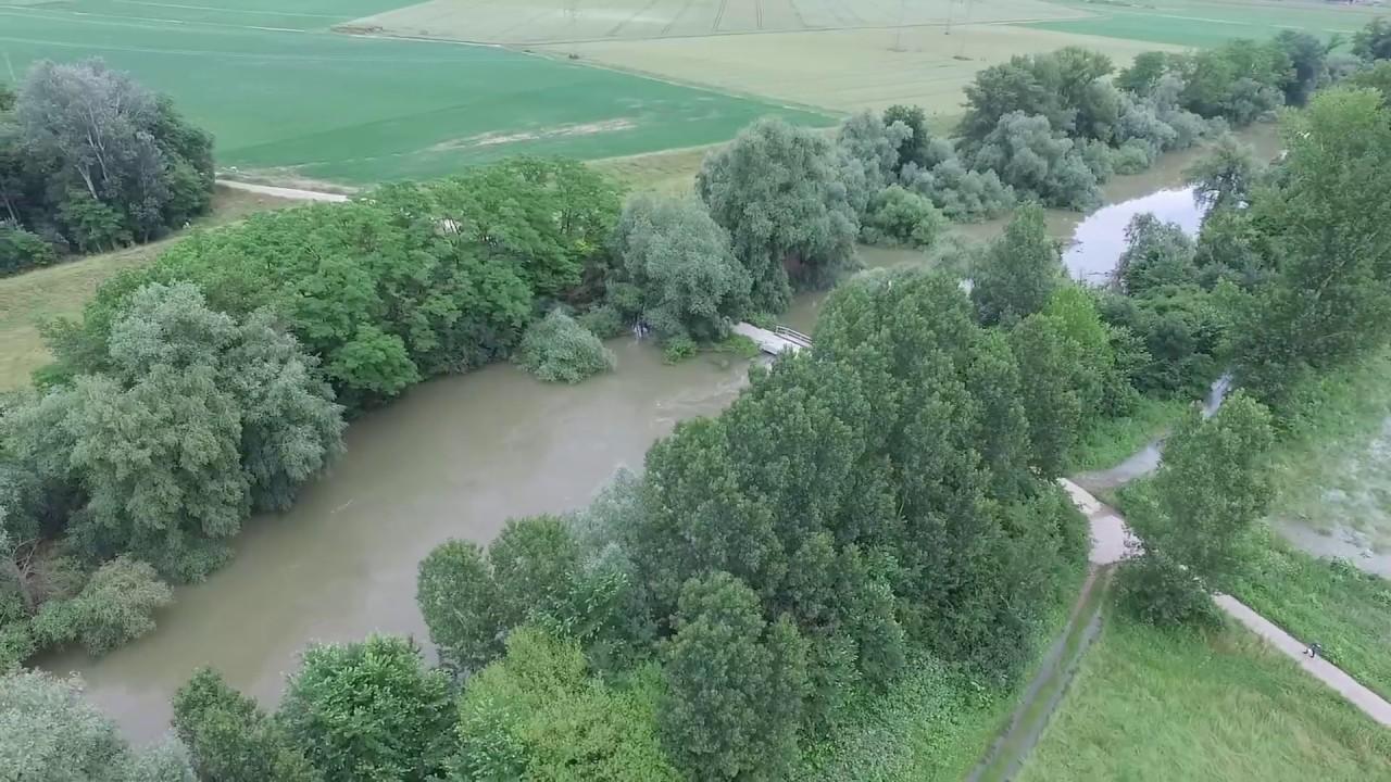 Hochwasser Altrhein Juni 2016 Hofheim Nordheim Youtube