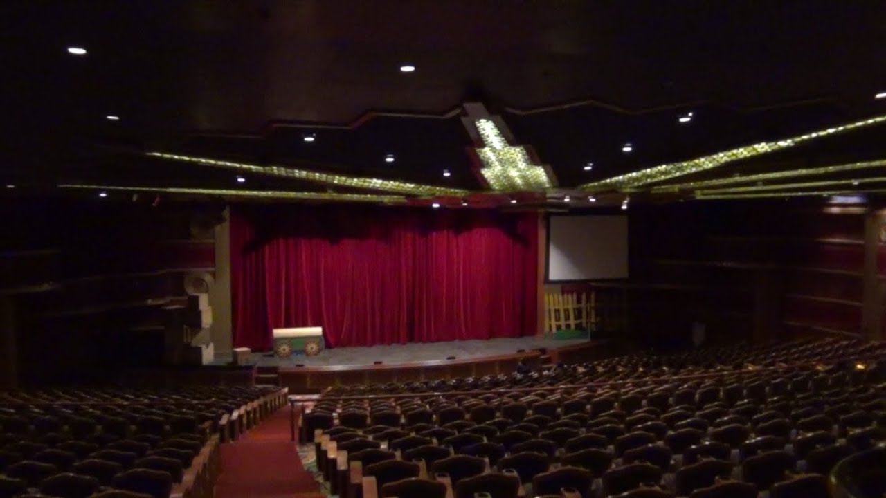 Disney Cruise To Hawaii >> Disney Cruise Line - Disney Wonder Cruise Ship Tour - Deck 4 - Walt Disney Theatre - YouTube