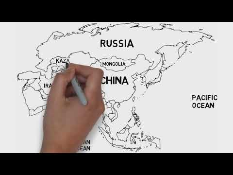 Map of Asia Continent (Countries and their location)
