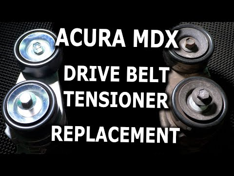 Acura MDX Noisy Drive Belt Tensioner replacement DIY