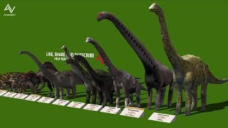 Dinosaur Size Comparison 3D - Smallest to Biggest
