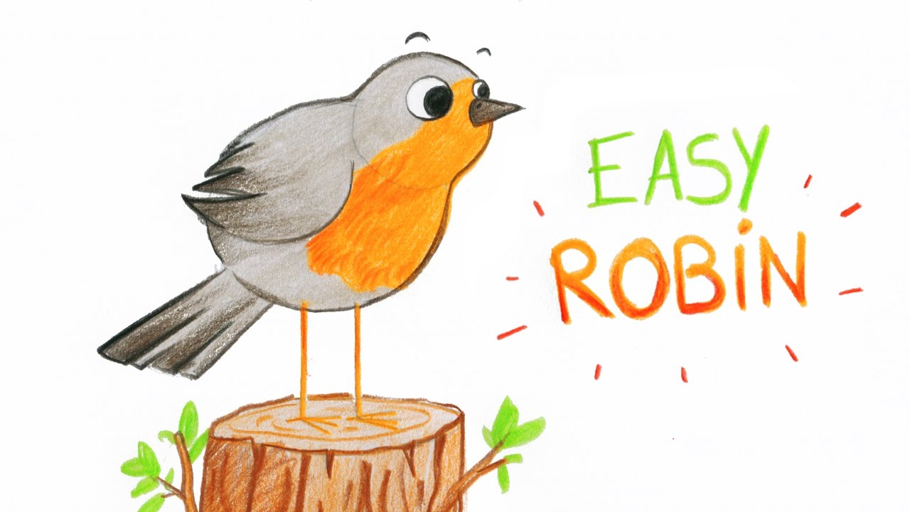 HOW TO DRAW A CUTE ROBIN (BIRD, EASY WAY) / COMMENT ...