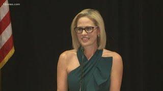 WATCH: Democrat Kyrsten Sinema gives her victory speech