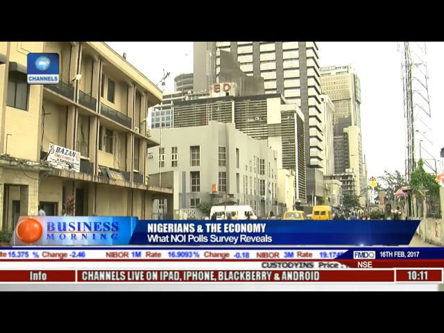 Business Morning What NOI Polls Survey Reveals On The Economy