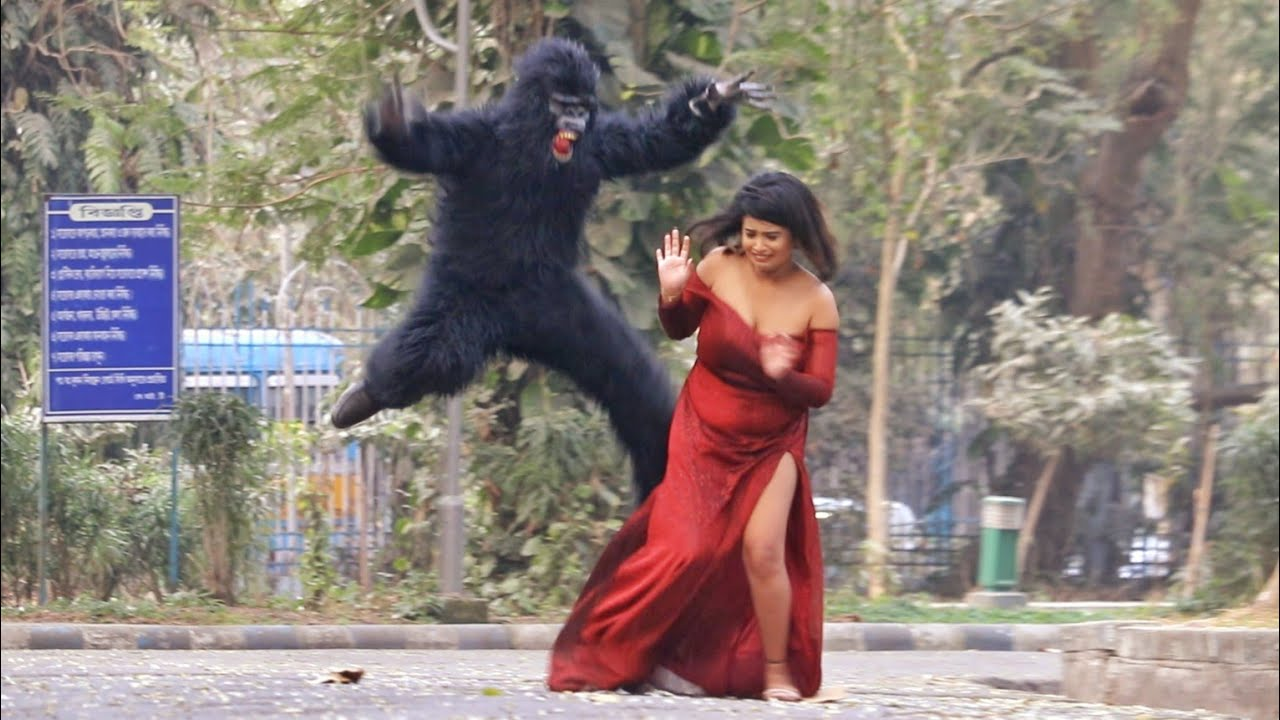 Gorilla Atta¢k Prank (Part-2) on Cute Girls 😳😳 PrankBuzz