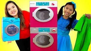 Wendy  Lavandería | Bella Lavanderina | Niños Juguan con Juguetes de Limpieza| Toy Washing Machine
