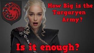 Game of Thrones Season  | How Big is Daenerys Targaryens Army | Is it enough?