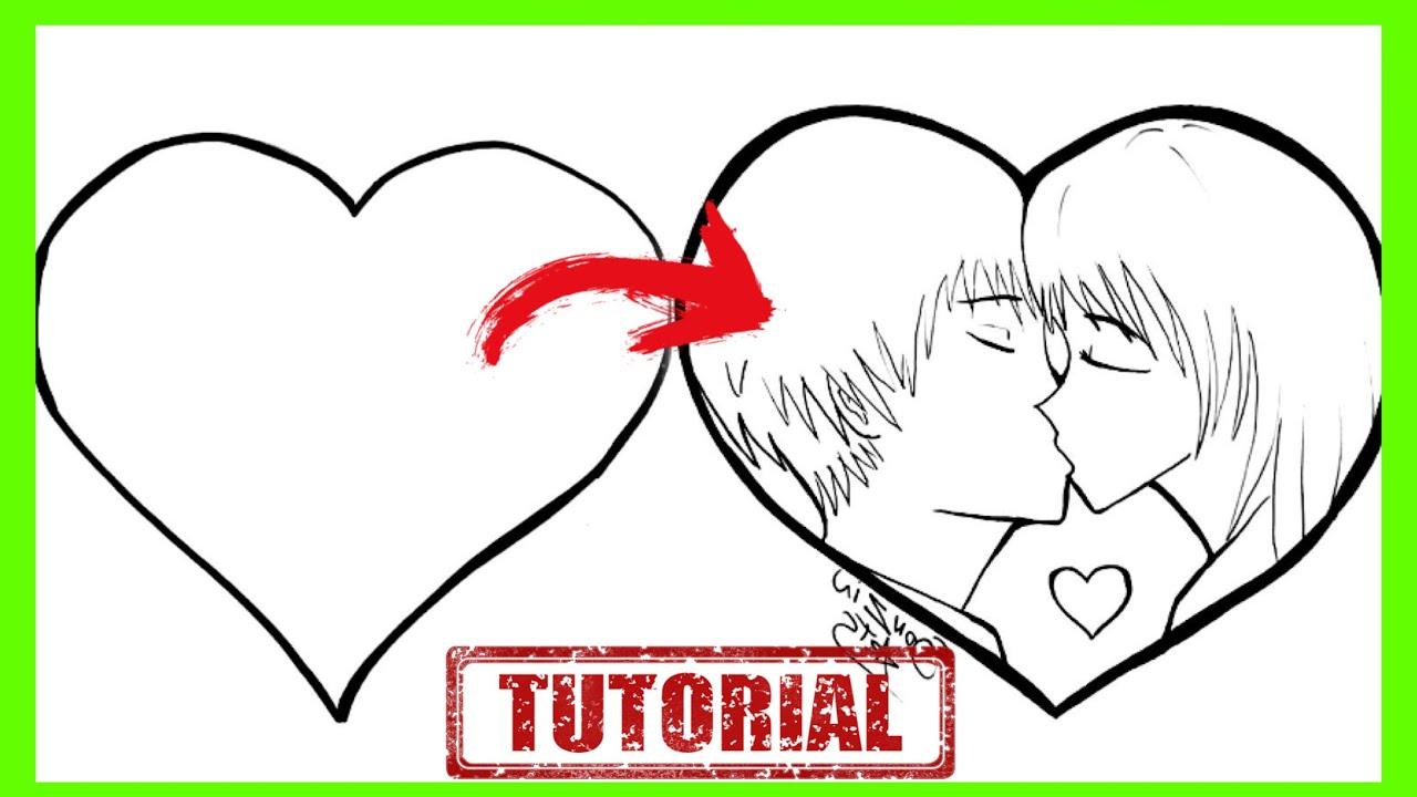 Como Transformar Um Coracao Em Um Casal Se Beijando Truques De