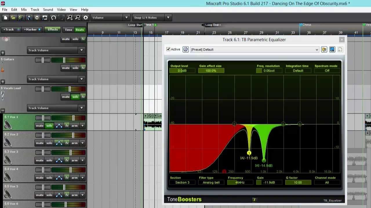 Mixcraft Pro Studio Mini Tip - Using A Parametric Equalizer