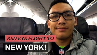 RED EYE FLIGHT TO NEW YORK - VLOGMAS DAY 4 - ohitsROME