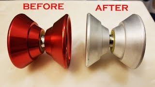 How to strip anodized metal tutorial. How to remove anno from a yoyo, or any metal tutorial.