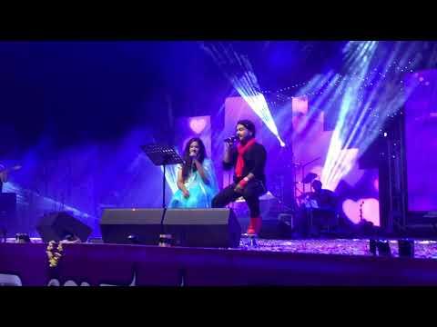 Ondu Malebillu performing by Arjun Janya and Manasa Holla at Kumta Utsav