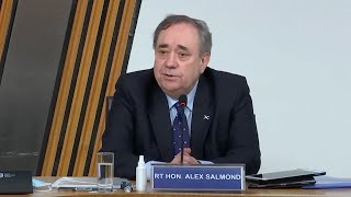 video: Politics latest news: Alex Salmond gives evidence in Holyrood inquiry - watch live
