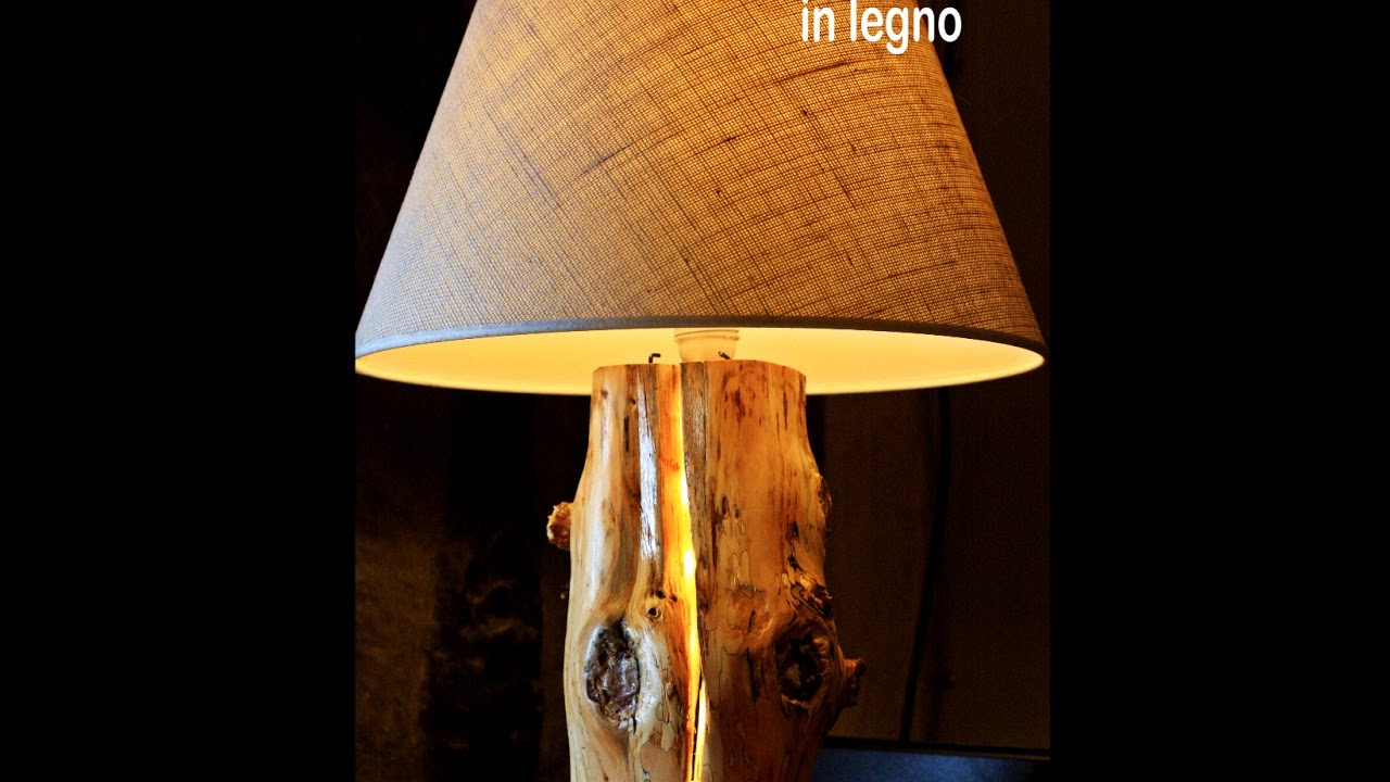 Lampada abat jour in legno fai da te diy youtube for Coprilavatrice legno fai da te