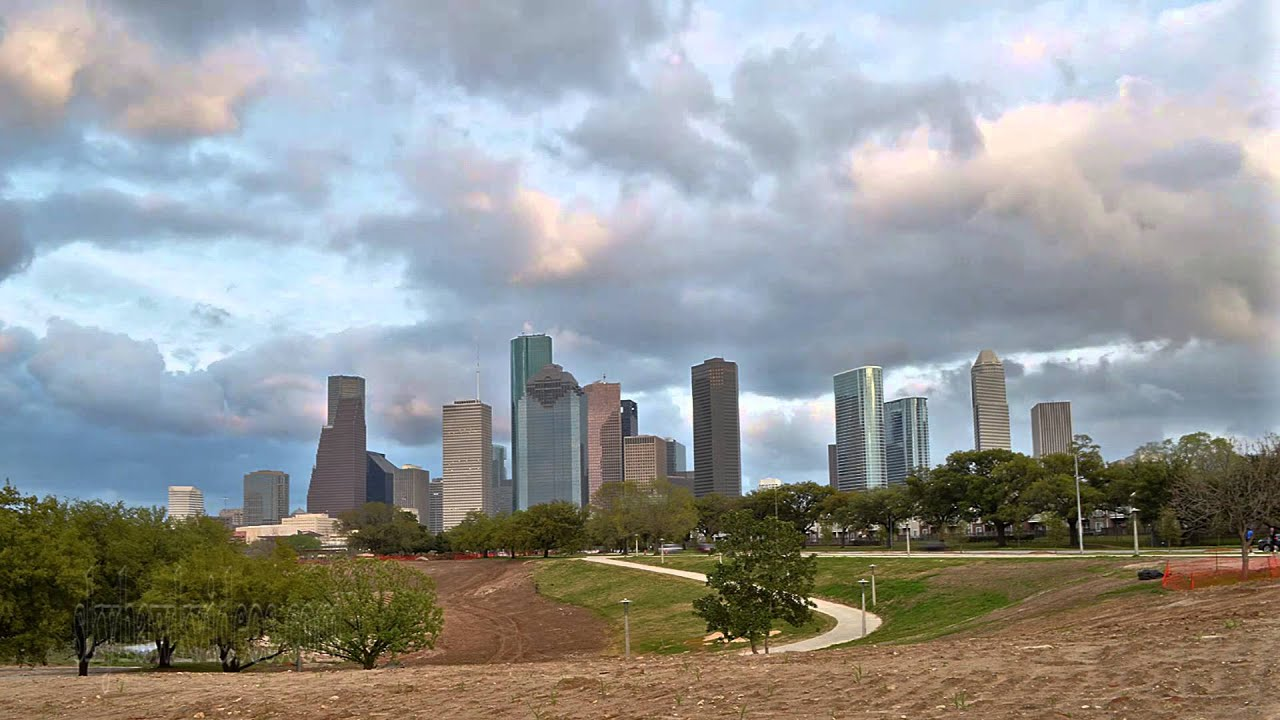 houston downtown skyline time lapse buffalo bayou youtube. Black Bedroom Furniture Sets. Home Design Ideas