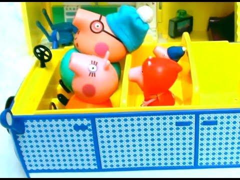 Мультфильм игрушками Свинка Пеппа Свинка Pig Украшаем дом