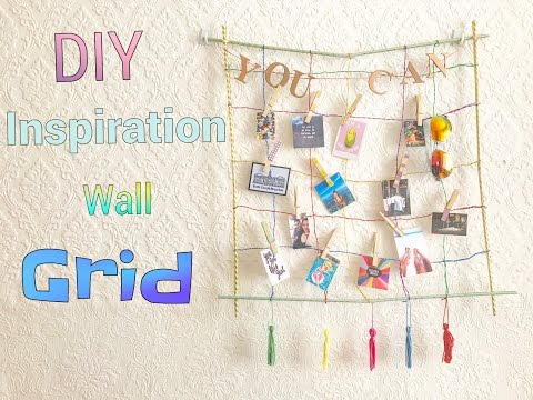 DIY Colorful Inspiration Wall Grid!! From Scratch!! || ThparklyUnicorn