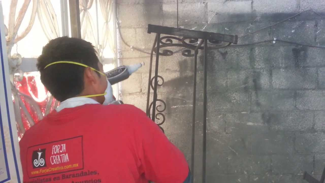 Herreria pintura al horno forja creativa puebla youtube - Pintura para rejas ...
