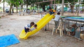 ภูมิปัญญาเด็ก ๆ โรงเรียนเกล็ดแก้ว นำของทิ้งแล้วประยุกต์เป็นเครื่องเล่น