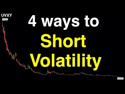 Video #99)  4 Ways to Short Volatility  -  Ranked from Worst to Best