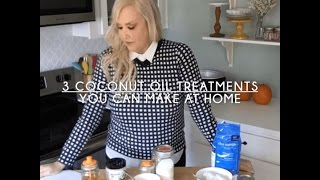 3 Simple Coconut Oil Beauty Treatments