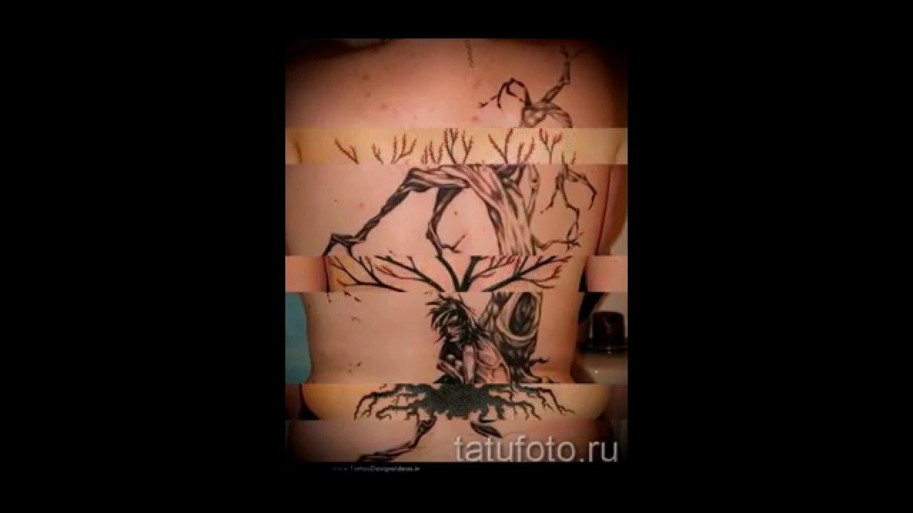 Значение тату дерево примеры готовых татуировок на фото ...