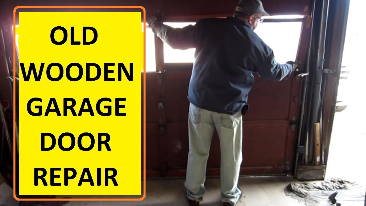 OLD Wood Garage Door Repair - YouTube