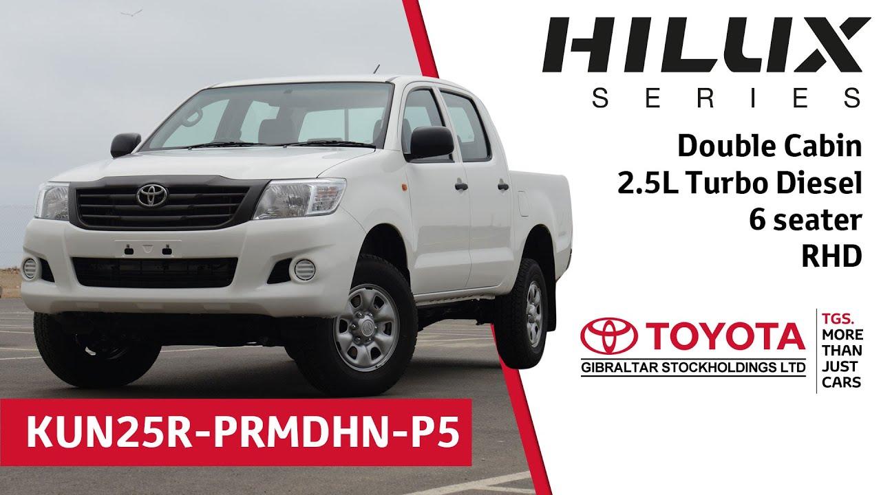 toyota hilux double cabin - 2.5l turbo diesel - 5 seater - rhd