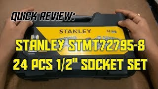 "Quick Review: Stanley 24 pcs 1/2"" Drive Socket Set STMT72795-8"