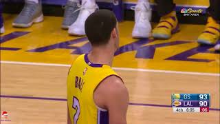 Lonzo Ball FULL Lowlights 2017-12-18 Golden State Warriors vs Los Angeles Lakers