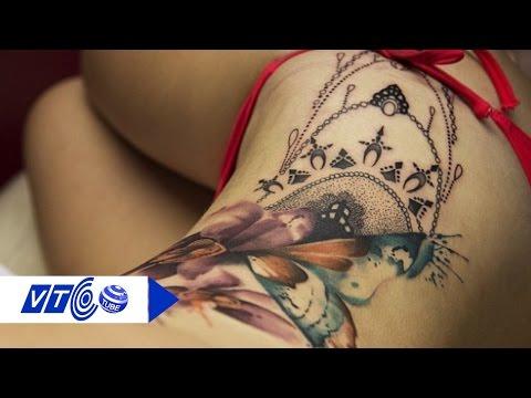 Ngắm 'bóng hồng xăm trổ' xinh đẹp tại  lễ hội xăm | VTC
