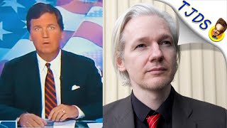 Tucker Carlson Defends Assange. Huh?