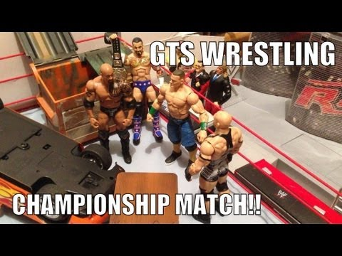 GTS WRESTLING: Championship Belt Tournament WWE Mattel Action Figure Matches Animation Video