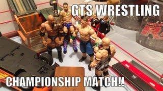 GTS WRESTLING: Championship Belt Tournament WWE mattel action figure matches animation Video