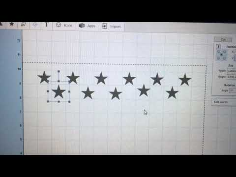 How To Create The Stars In Easel For The US Flag