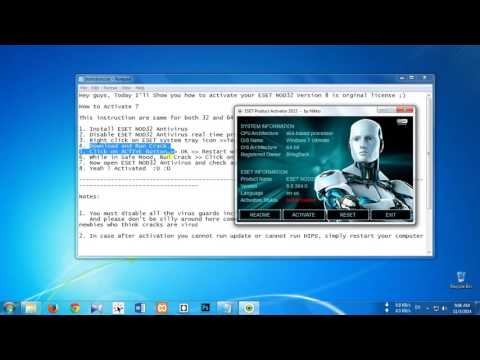 How to lifetime activate crack ESET NOD32 ANTIVIRUS Version  8 0 304 0