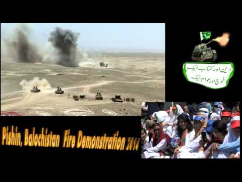 Firing demonstration in Pishin Balochistan Pakistan