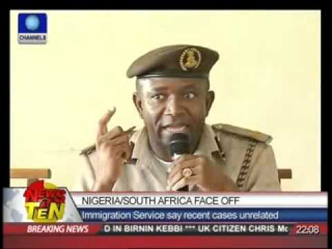 Nigeria/South Africa Face Off:Immigration Service say recent cases unrelated