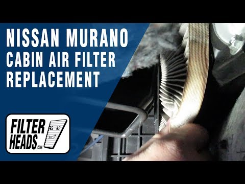 How to Replace Cabin Air Filter 2009 Nissan Murano