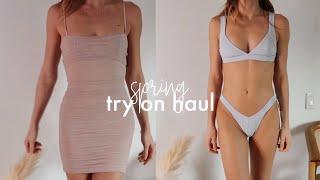 Spring Try On Haul (Aritzia, Skims, Frankie's Bikinis)