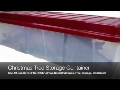Plastic Artificial Christmas Tree Storage Container Box and Bin