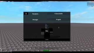Roblox - In Game PM Notifications and Message Sending