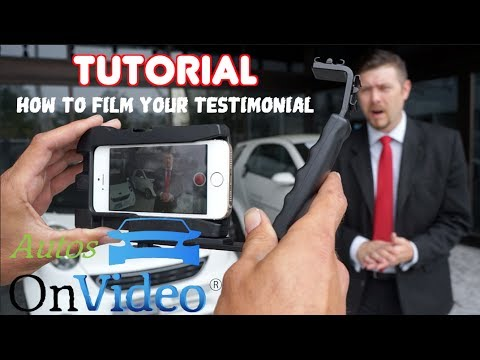 How to - Auto Dealership Customer Testimonial | Tutorial with Chad Dolbier