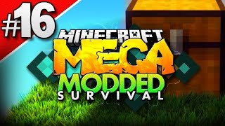 Minecraft MEGA Modded Survival #16 | HOW TO GET INFINITE STORAGE! - Minecraft Mod Pack