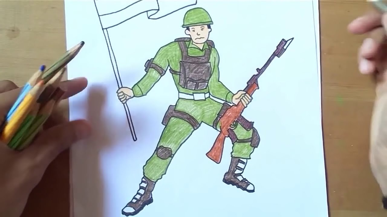 How To Draw Indian Army Independence Day Drawing For Kids