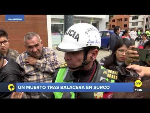 Policías abatieron en Surco a un conductor que huyó tras ser intervenido